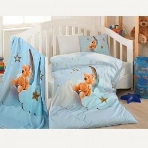ست لحاف سه بعدی نوزادی مدل blue dream